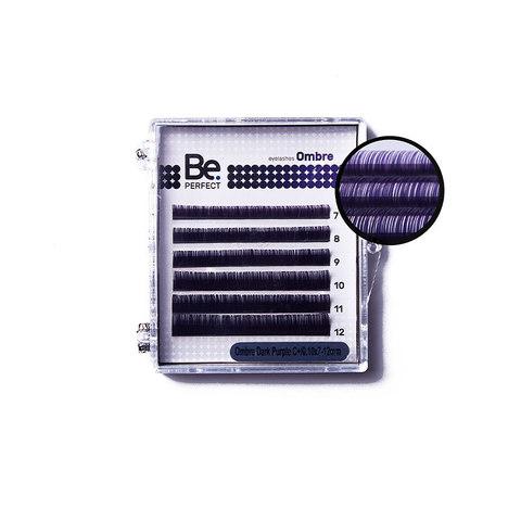Цветные ресницы Be Perfect Ombre Dark Purple MIX (6 линий)