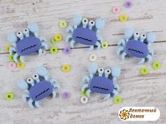 Пластиковый декор Краб голубой