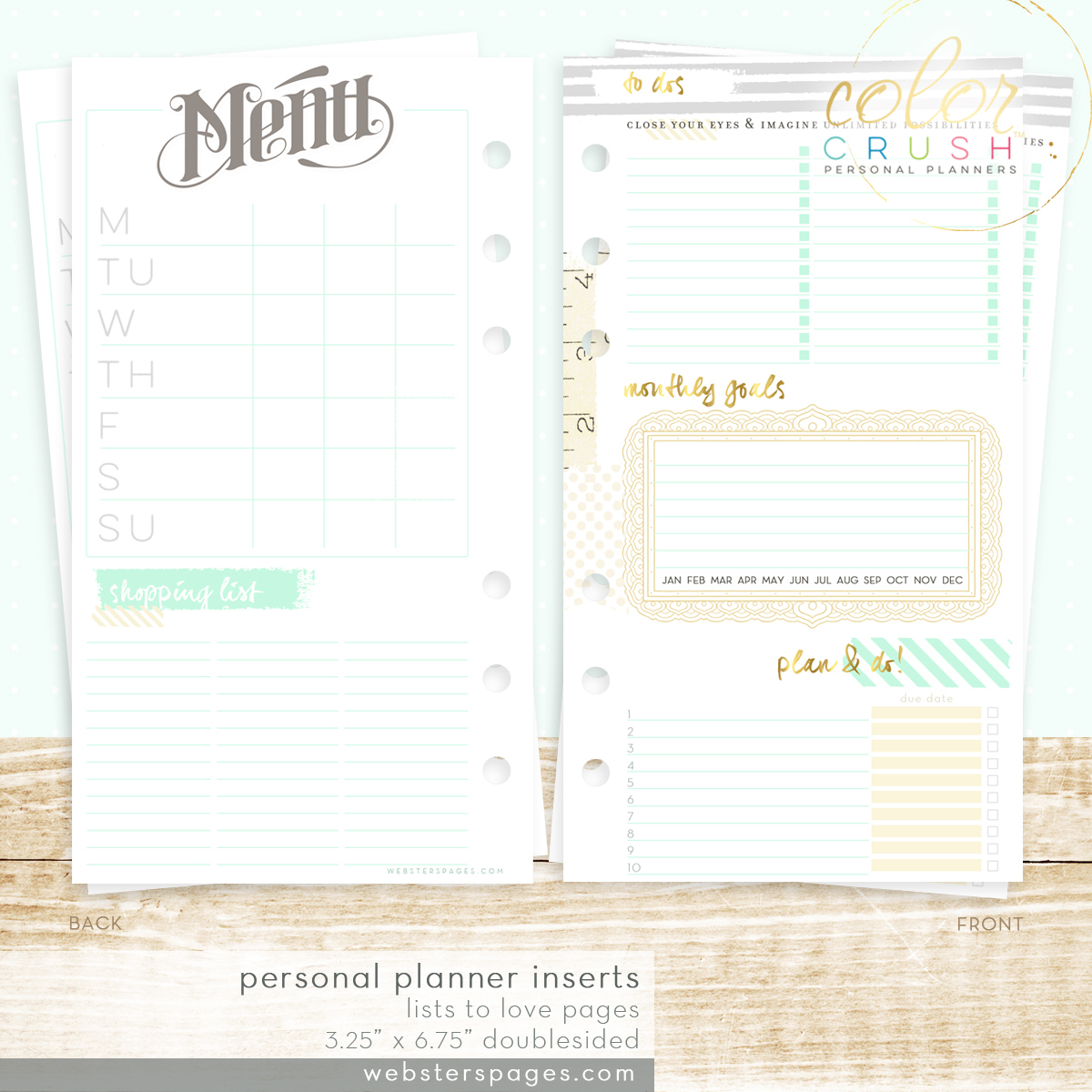 Планер PERSONAL PLANNER KIT : Gold  by Websters Pages