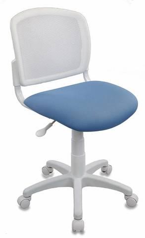 спинка сетка белый TW-15 сиденье голубой 26-24