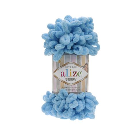 Купить Пряжа Alize Puffy Код цвета 016 Бирюзовый | Интернет-магазин пряжи «Пряха»
