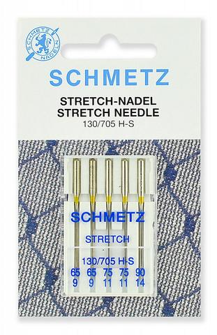Иглы стрейч Schmetz 130/705H-S №65 (2) 75(2), 90(1) 5 шт.