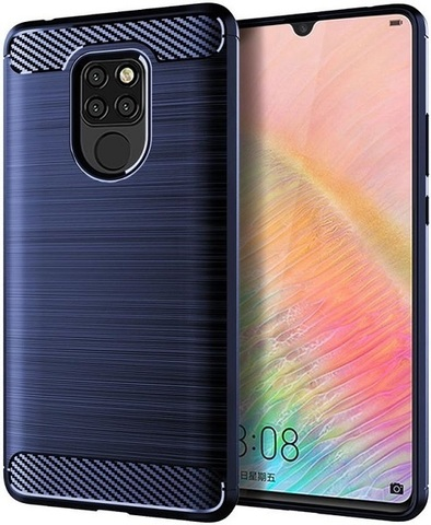 Чехол Huawei Mate 20X цвет Blue (синий), серия Carbon, Caseport