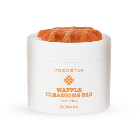 KOCOSTAR   Очищающие вафельные диски для лица с экстрактом чайного дерева / Waffle Cleansing Pad