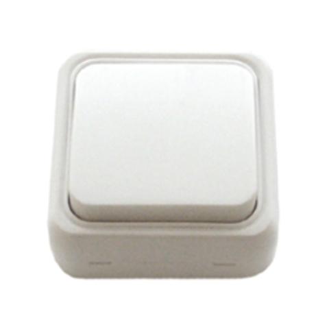 Выключатель одноклавишный открытой установки, схема 1. Цвет Белый. LK Studio STANDARD (ЛК Студио СТАНДАРТ). 810104