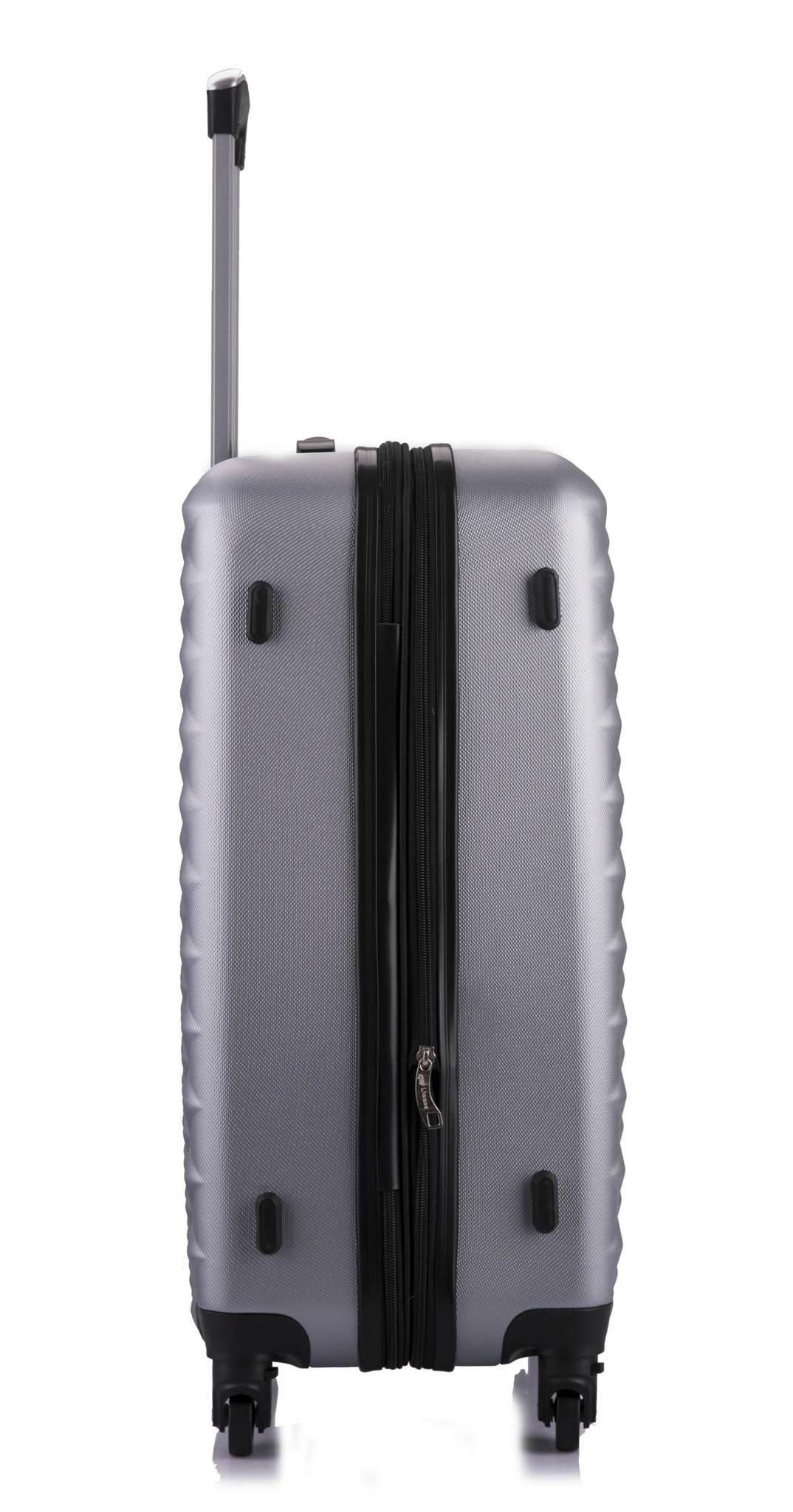 Чемодан с расширением L'case Phatthaya-28 Серебро (XL)