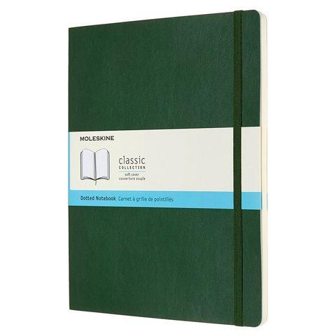 Блокнот Moleskine CLASSIC SOFT QP624K15 190х250мм 192стр. пунктир мягкая обложка зеленый