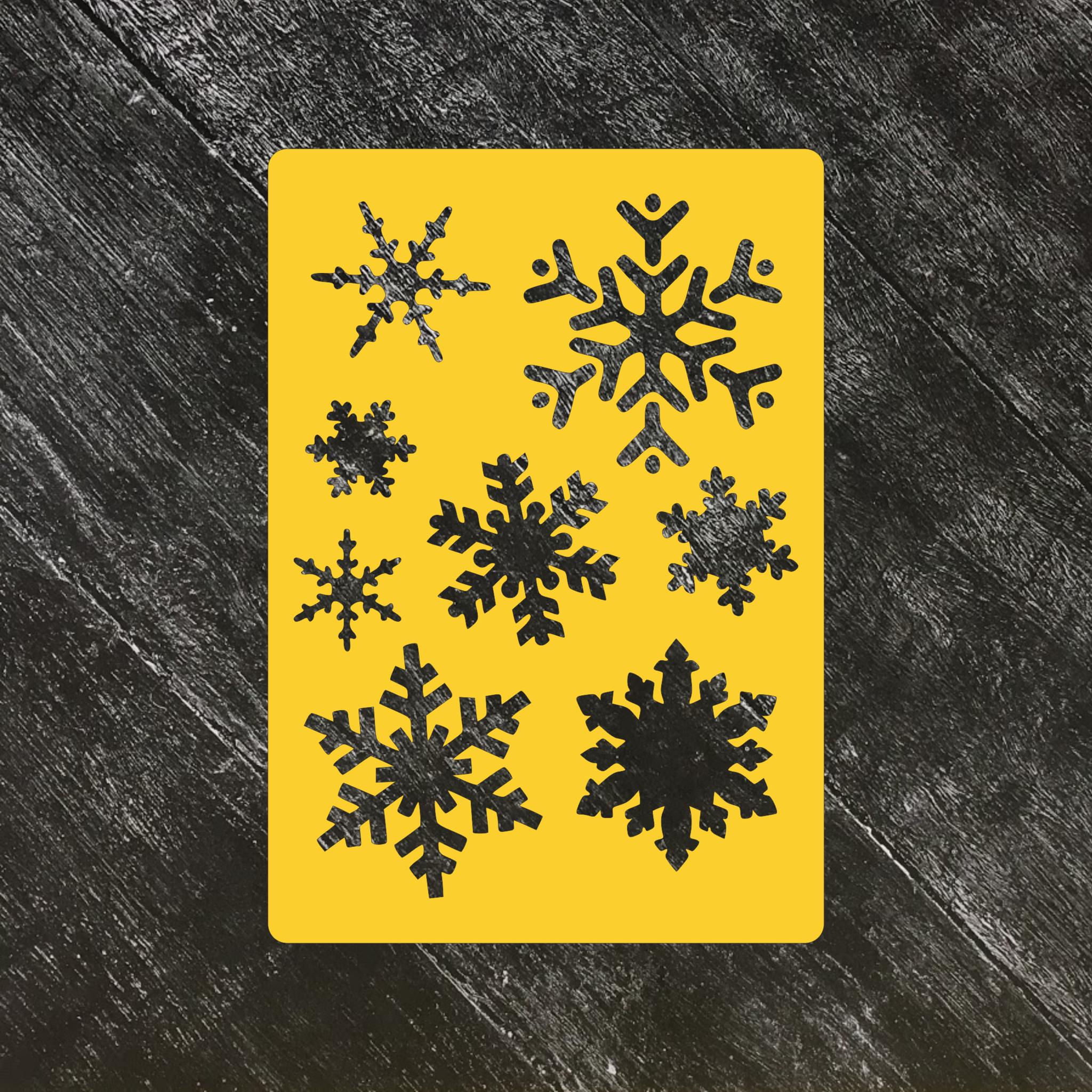 Трафарет новогодний №4 Большие снежинки