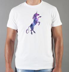 Футболка с принтом Единорог (Unicorn) белая 0034
