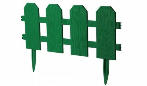Ограждение декоративное Классика 2,99х0,25м М3160 зеленый М-пластика