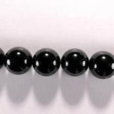 Бусина из шпинели черной, шар гладкий 12мм