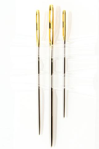 HEMLINE Иглы ручные для вышивания с двойным ушком и закругленным кончиком  № 14-18, 3 ШТ