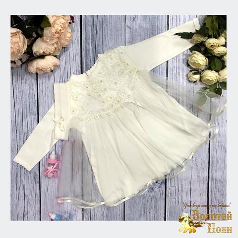 Платье+повязка малышке (56-68) 191102-Р-830