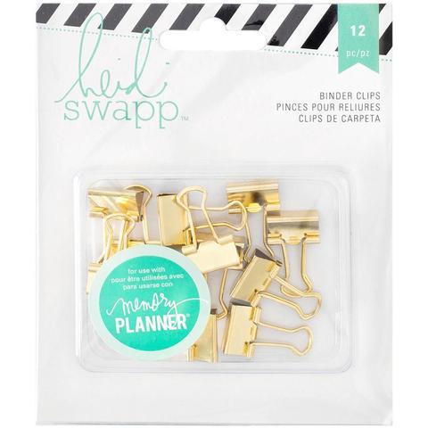 Зажимы декоративные Heidi Swapp Memory Planner Binder Clips -12шт.