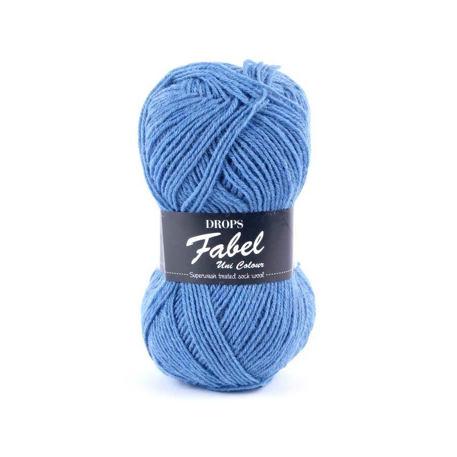 Пряжа Drops Fabel 103 серо-голубой