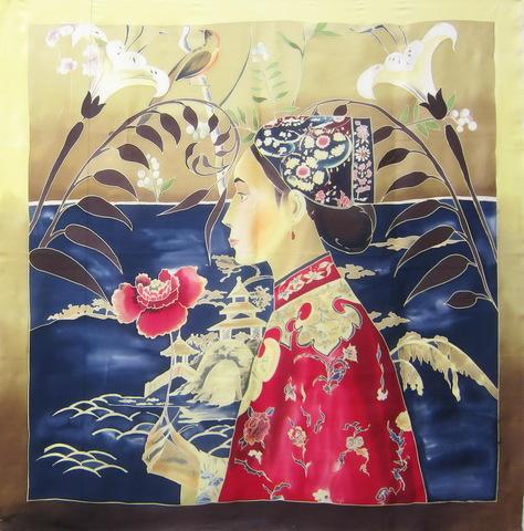 Платок батик Китайская принцесса С-60