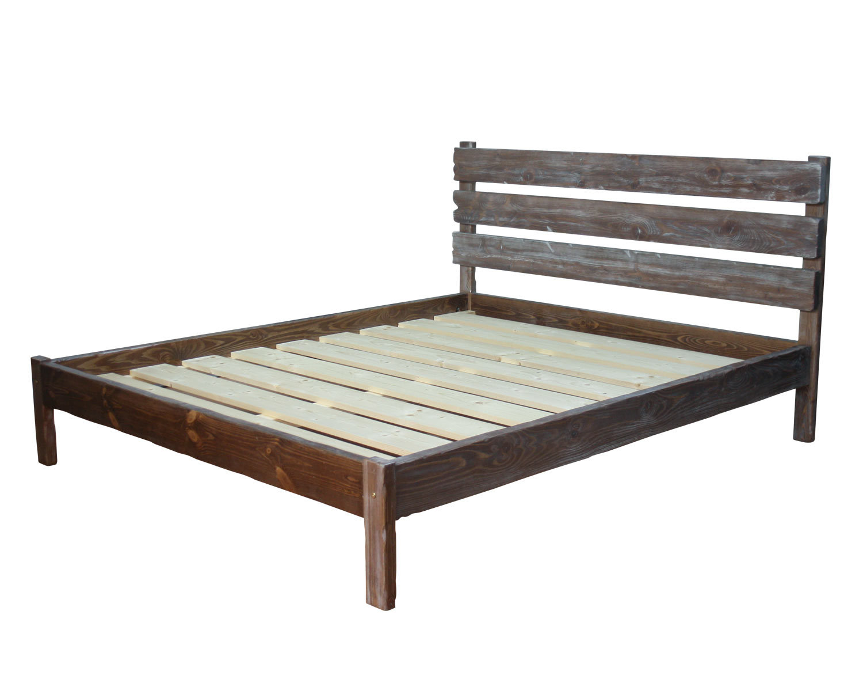 Кровать Деревенская, светло-коричневая