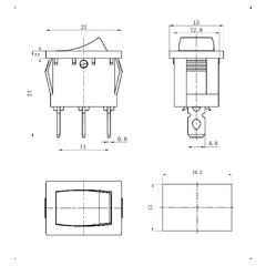 Переключатели KCD1-102-C1-B/3P on-on