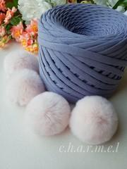 Помпон из натурального меха, Кролик, 5-6 см, цвет Светло-бежевый, 2 штуки