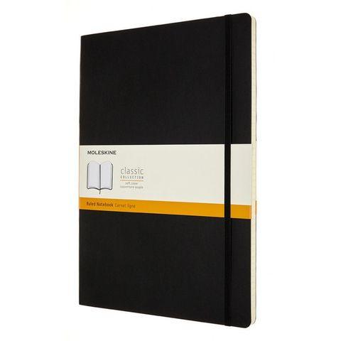 Блокнот Moleskine CLASSIC SOFT QP641 A4 192стр. линейка мягкая обложка черный