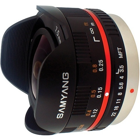 Объектив Samyang 7.5mm f/3.5 UMC MFT Fisheye Black для Micro 4/3
