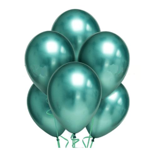 Воздушные шары хром зелёные