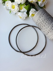 Ручки для сумок металл тёмный никель 16 см, 2 шт
