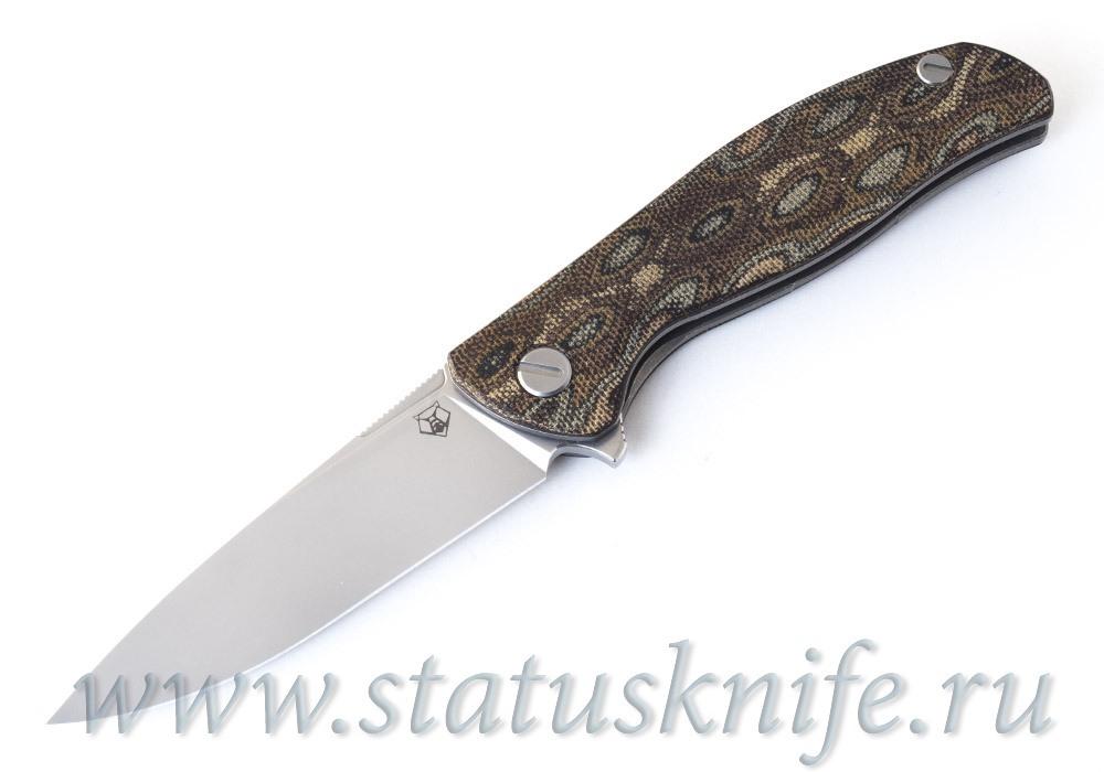 Нож Широгоров Ф3 RWL 34 Микарта Питон 3D подшипники - фотография
