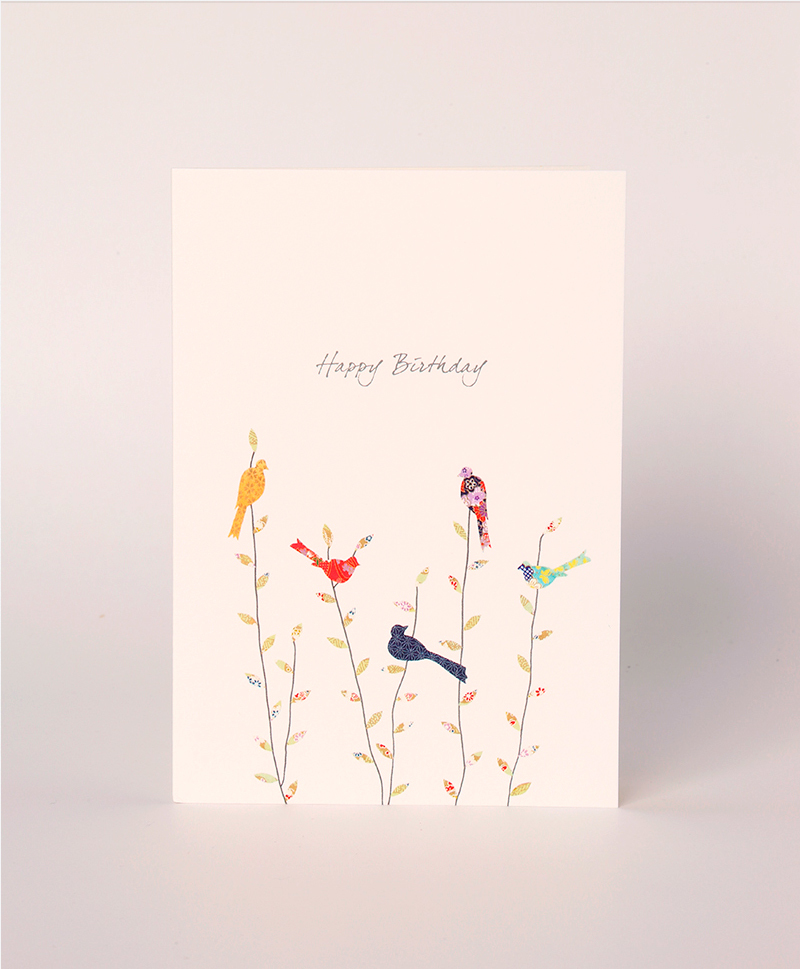 Открытка Spring Birds Birthday