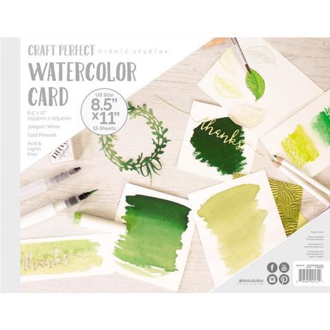 Бумага для акварели - Tonic Studios Watercolor Pad 21,6*27,9 см - 15 л