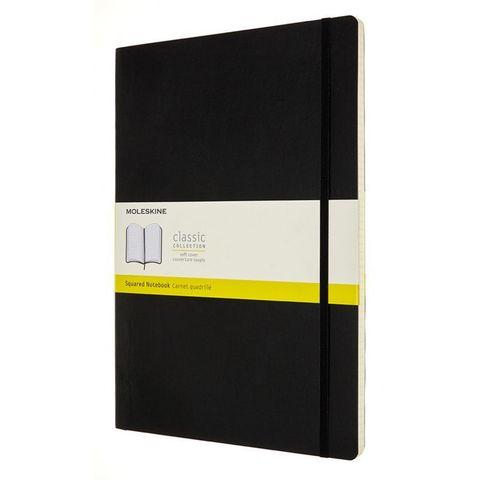 Блокнот Moleskine CLASSIC SOFT QP642 A4 192стр. клетка мягкая обложка черный