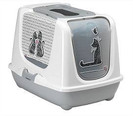 MODERNA Био-туалет Moderna Cats in Love с совком, серый ceb158bb-94c4-11e8-8133-005056bf23ce.png