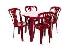 Пластиковый стул бордовый