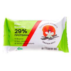 Полезная конфета Protein Ball. Мак-Ваниль (2 конфеты) 30 гр.