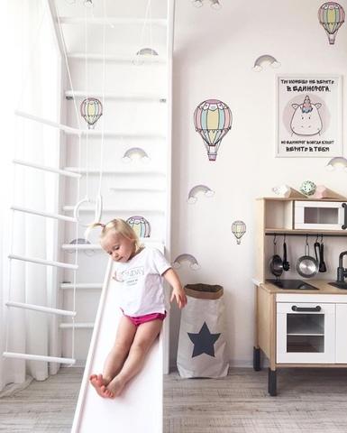 Шведская стенка, белая