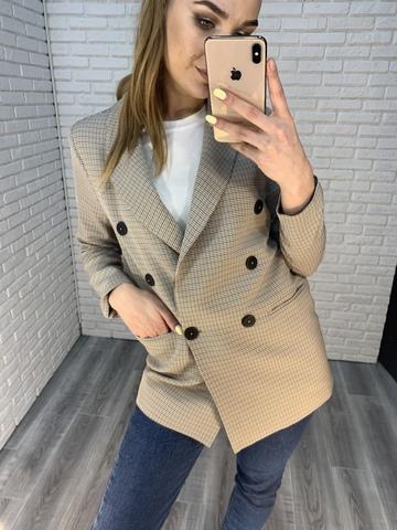 клетчатый пиджак женский nadya