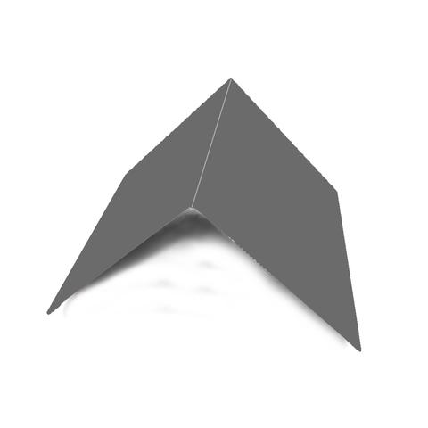 Планка конька плоского 150х150х2000 мм RAL 7024