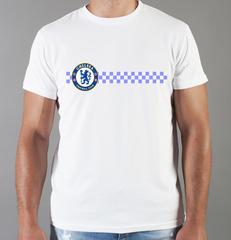 Футболка с принтом FC Chelsea (ФК Челси) белая 004