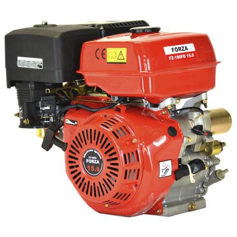 Двигатель FORZA 15л.с.(FZ-415EQ) эл.пуск,25мм,18А, 216Вт,12V