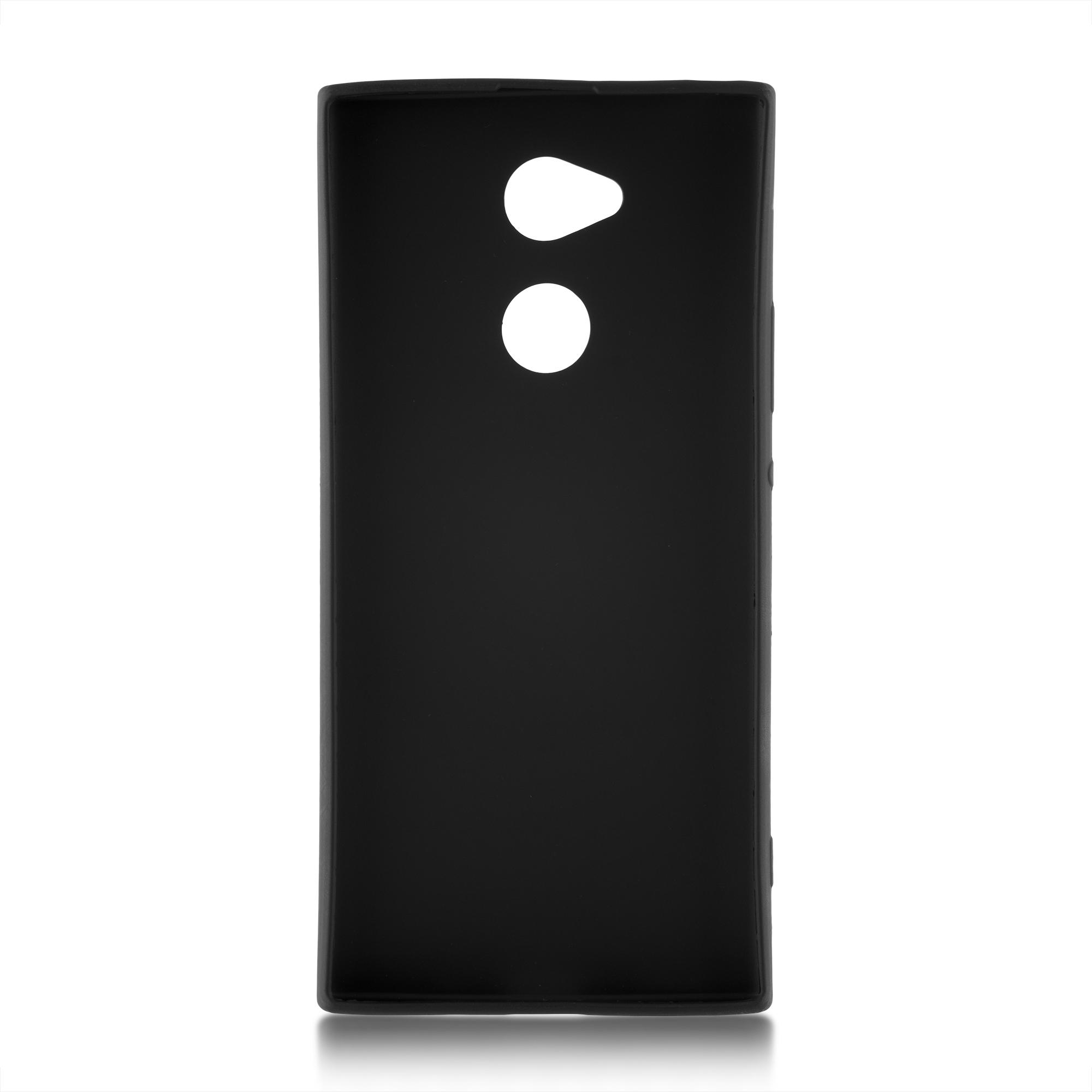 Brosco Xperia XA2 Plus / Накладка матовая черная