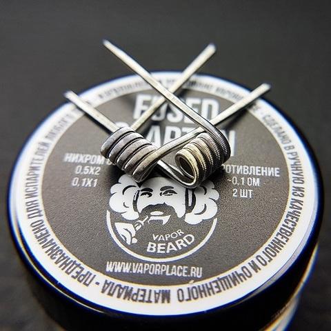 Fused Clapton Vapor Beard (NiCr 0,5х2 NiCr 0,1) 3мм 0,1 Ом
