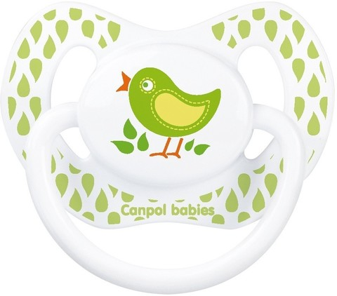Пустышка анатомическая силиконовая, 6-18 Summertime (птичка)