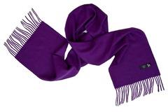 Шерстяной шарф фиолетовый 01005