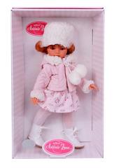 Munecas Antonio Juan Кукла Кукла Эльвира зимний образ, рыжая, 33см (2586W)
