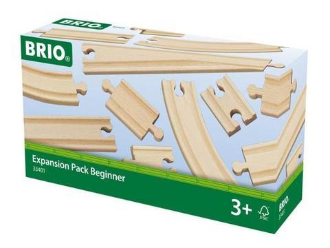 BRIO Ж/д рельсы, Набор базовых элементов, длина деталей от 5.4 до 21.6 см, 11 дет.в наборе