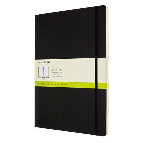 Блокнот Moleskine CLASSIC SOFT QP643 A4 192стр. нелинованный мягкая обложка черный