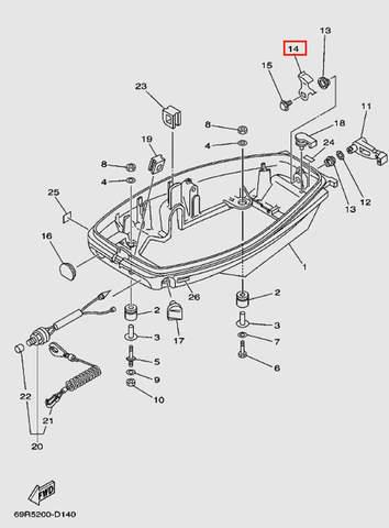 Крючок защелки колпака для лодочного мотора Т30 Sea-PRO (11-14)