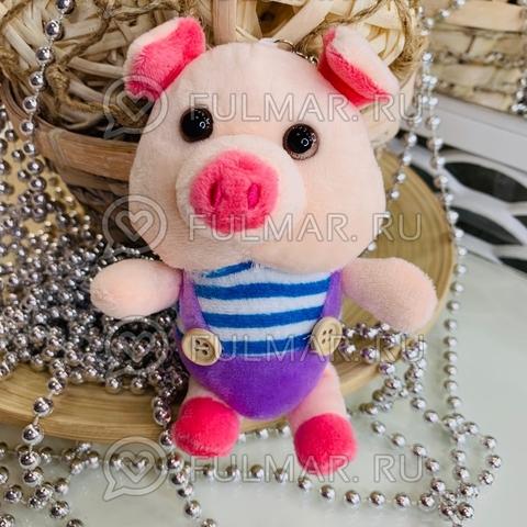 Поросёнок брелок Мистер Пиг Лиловый символ 2019 свинья