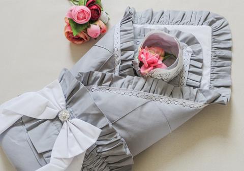 Одеяло на выписку, чепчик
