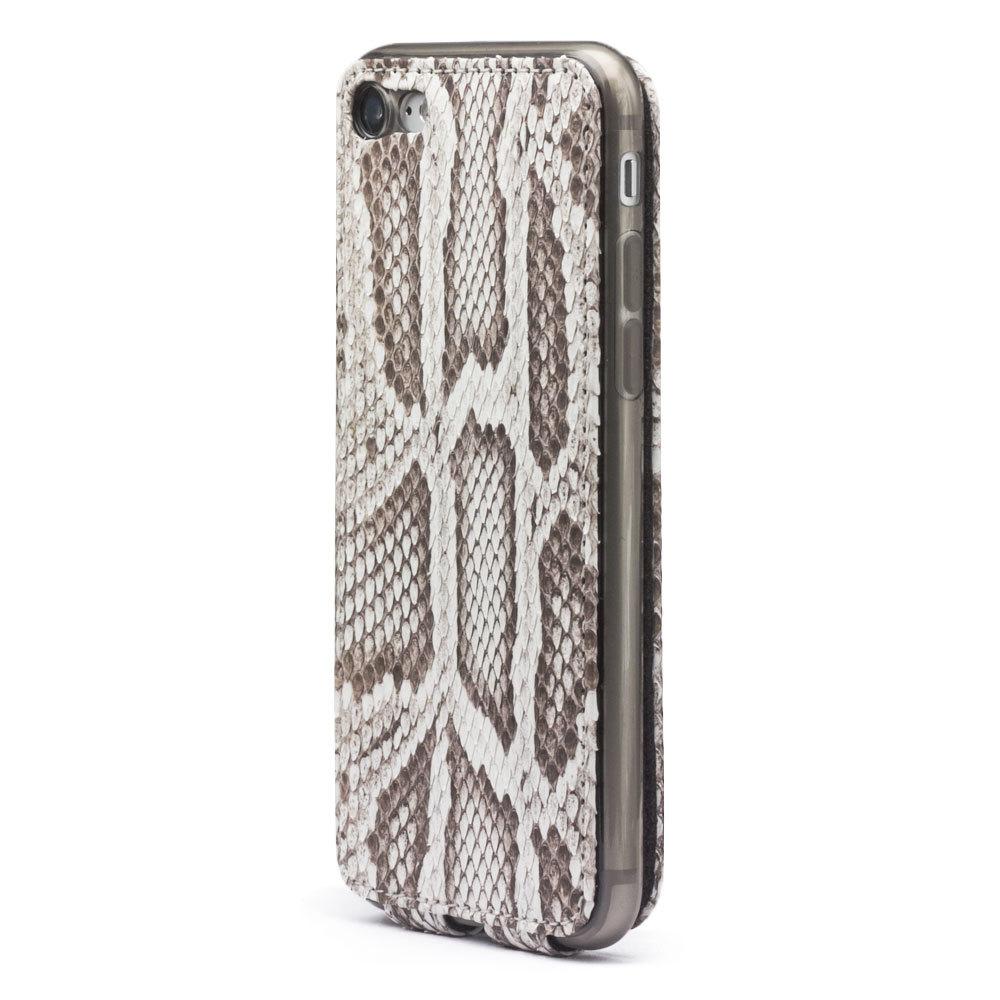 Чехол для iPhone 7 из натуральной кожи питона, цвета Natur